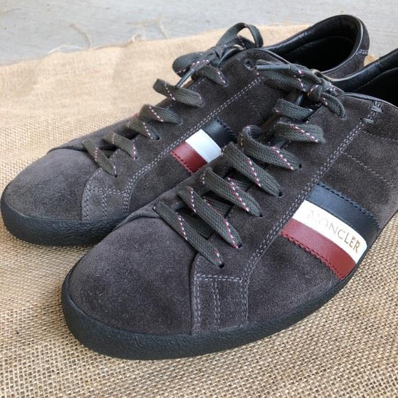 ... Moncler Monaco sneakers striped suede. M 5b720b6f129955389ed001de 2ed6d78a687